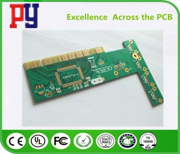 HASL Surface Finishing Single Sided Printed Circuit Board With Gold Finger Plating